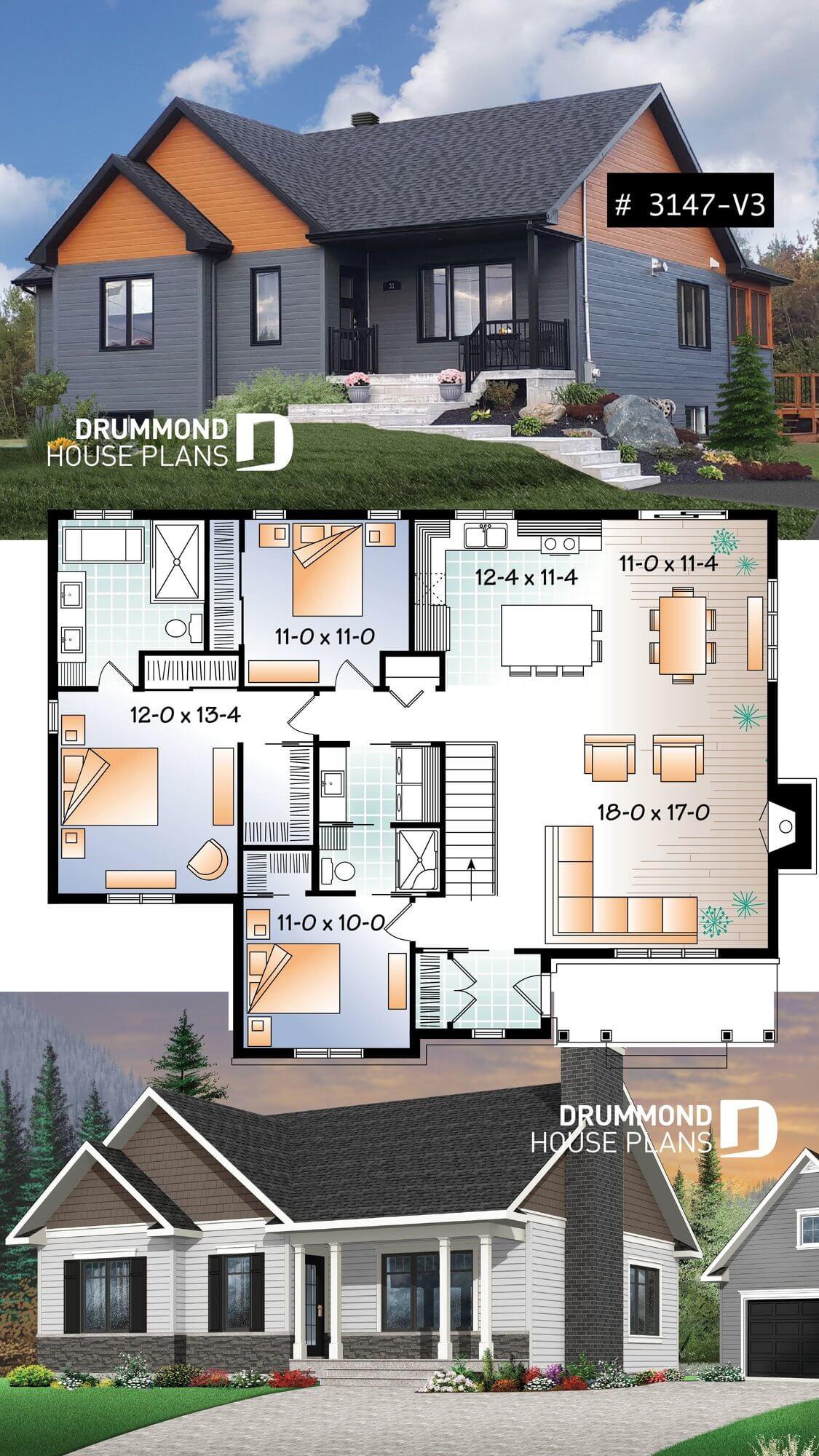 Rambler House Floor Plan